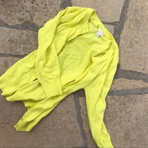 J Crew Bright Yellow Cardigan